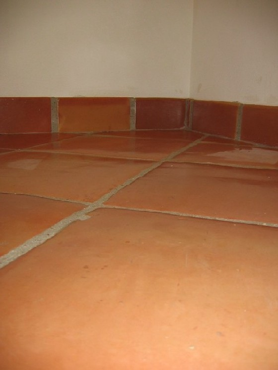 To Baseboard Or Not With Saltillo Tile Ceramic Tile