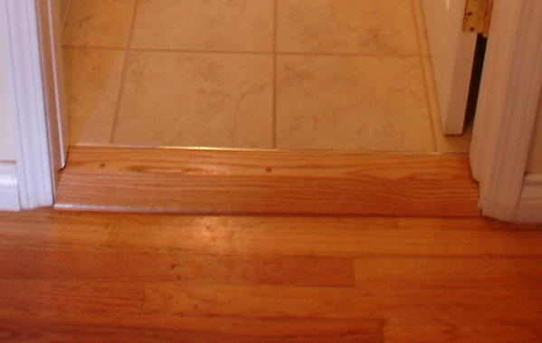 Threshold From Bathroom To Hallway Ceramic Tile Advice