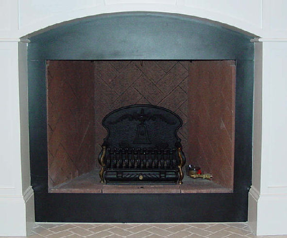 Black Metal Fireplace Surround, Can You Tile Over Metal Fireplace Surround