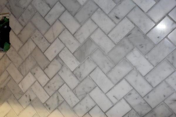 Uneven color on gray grout. - Ceramic Tile Advice Forums ...