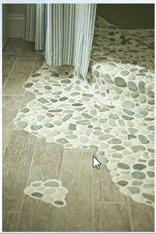 Curbless design with pebbles - Ceramic Tile Advice Forums - John ...
