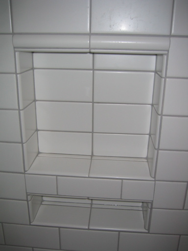 tiling bonsal niche with subway tile