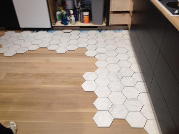 Irregular Hexagon Inlay In Hardwood Floor Ceramic Tile Advice