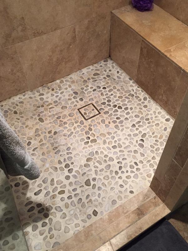 Clean River Rock Shower Grout Ceramic Tile Advice Forums