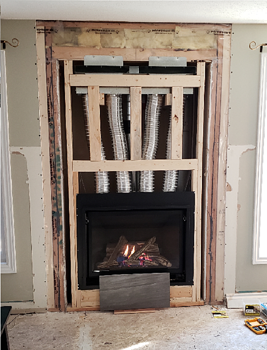 Help With Fireplace Surround Durock, Can You Tile Over Metal Fireplace Surround