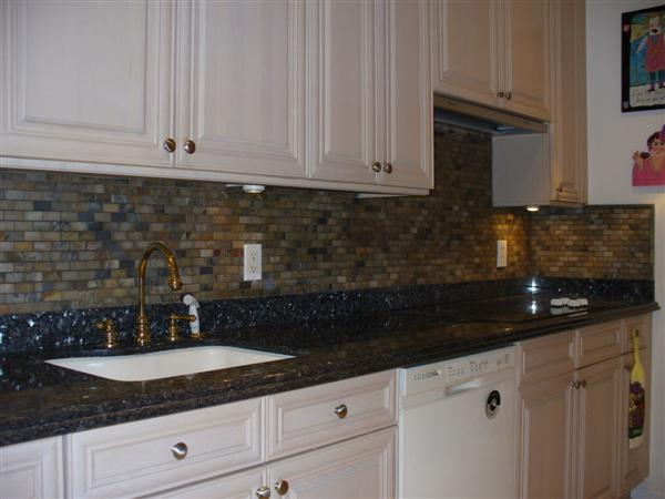 Attached Images - Grout Recommendation For Tumbled Slate Backsplash W/ Uneven