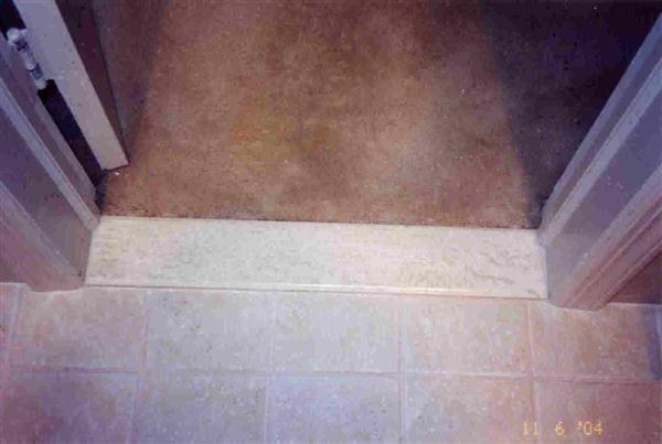 Ceramic Tile Carpet Threshold
