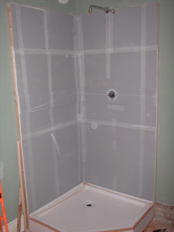 My Shower Project Denshield Backerboard Tiled Walls