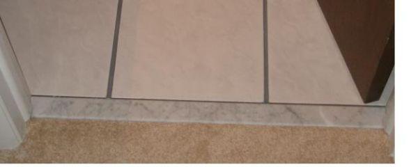 Tiling Bathroom Door Threshold carpet - ceramic tile threshold - ceramic tile advice forums
