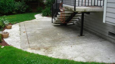 Tile Over Concrete On Outdoor Patio Need Advice Ceramic Tile - Can you tile a concrete patio