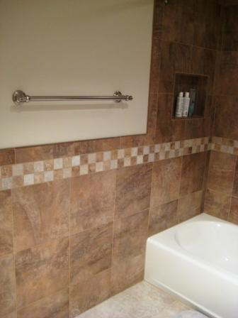 Tiling bathroom wainscot - Ceramic Tile Advice Forums - John Bridge Ceramic  Tile