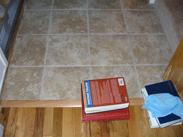 Quot T Quot Molding At Tile Wood Transition Ceramic Tile Advice