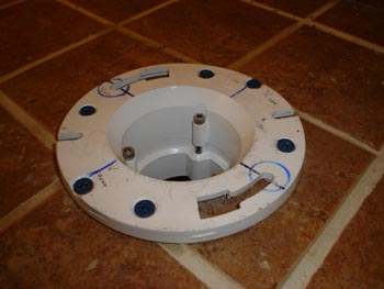 Toilet Flange Over Tiled Surface To Fasten Or Not
