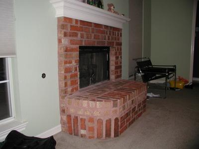 Brick Fireplace Project Advice, Removing Raised Brick Fireplace Hearth