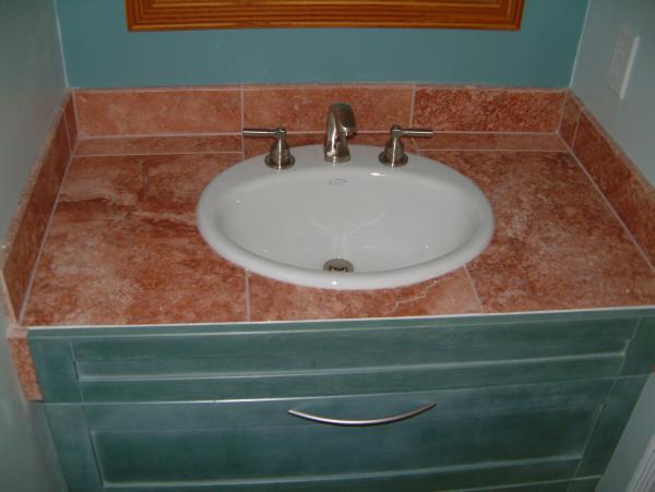 Tileing over cultured marble ceramic tile advice forums - Ceramic tile bathroom countertops ...