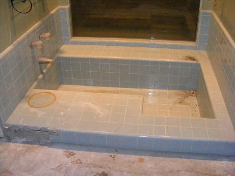 building a roman tub. Attached Images Retiling Sunken Tub  Ceramic Tile Advice Forums John Bridge