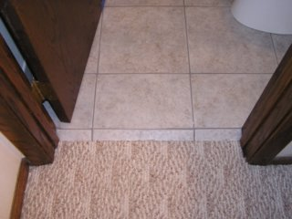 How To Dress Up Carpet Against Tile Ceramic Tile Advice