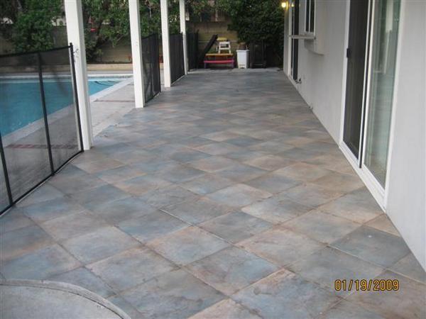 Porcelain Tile Ontop Of Cemente Patio Ceramic Tile Advice Forums - Can you tile a concrete patio
