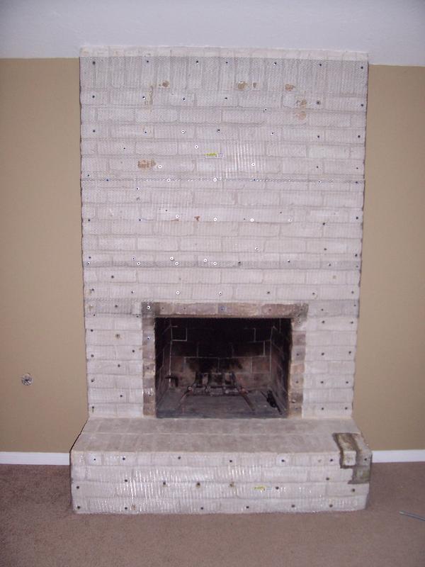 Fireplace Tile Over Brick Zef Jam