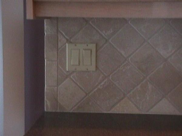 Unhappy With Exposed Edge Of Tile Backsplash Ceramic
