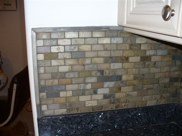 Slate Kitchen Backsplash Advice For A Newbie Ceramic