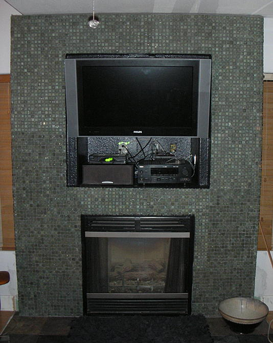Fireplace Surround Questions Glass Tile Ceramic Tile Advice