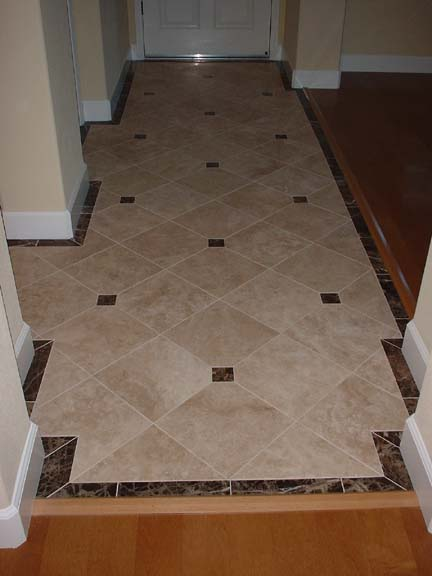 Foyer Tile Size : Would like to see some neat tile designs for entryway
