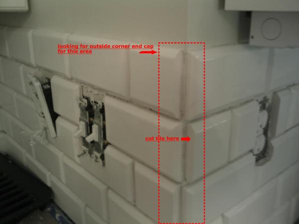 First Backsplash Bevel Tile Have An Outside Corner Q Please Ceramic Advice Forums John Bridge