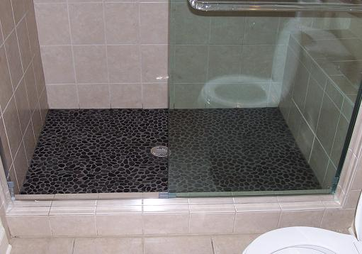 Replacing Tile Floor With River Rock Ceramic Tile Advice
