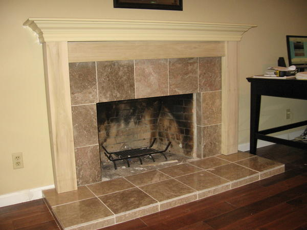 Fireplace Hearth and Mantel job. - Ceramic Tile Advice ...