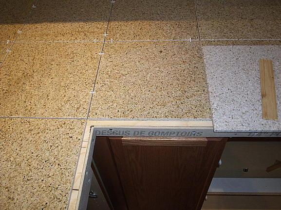 Granite Tile Countertop Layout Question