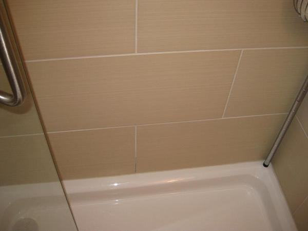 new shower install grout gets and stays wet even though sealed