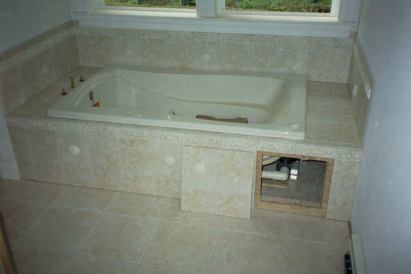 Tiled Access Panels Bathroom Image Of