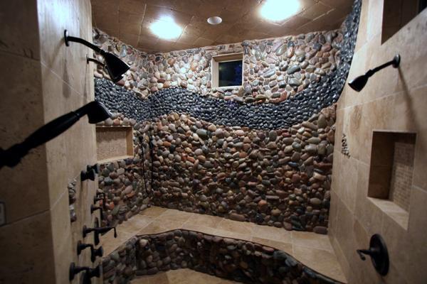 Installing New Standing Pebble Tile In Shower Ceramic Tile Advice - Ceramic tile that looks like rocks