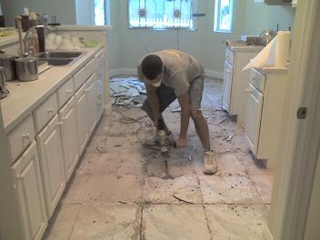 Removing existing tile on concrete slab - Ceramic Tile Advice Forums ...