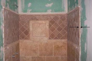 Tiled Shower Edge travertine tile / shower edge recommendations - ceramic tile
