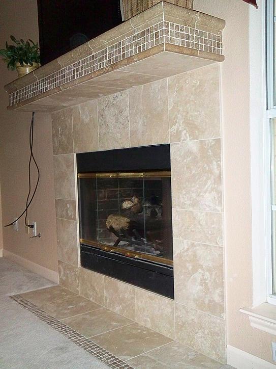 Tile Fireplace Mantels building a tile fireplace mantel - ceramic tile advice forums