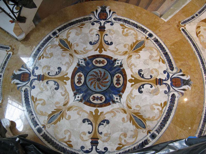 Waterjet Floor Medallion Install Ceramic Tile Advice