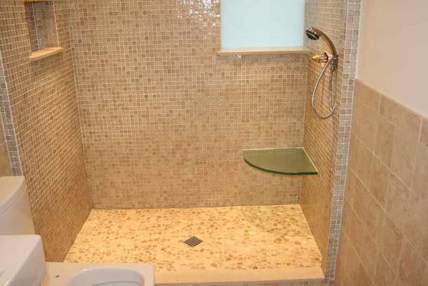 Installing A Glass Corner Shelf To Ceramic Tiles Ceramic