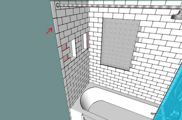 Tub Surround Tile Layout Lining Things Up Ceramic Tile Advice - Bullnose tile sizes