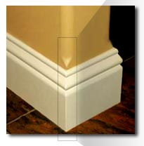 Baseboard Around Bullnosed Edged, How To Cut Baseboard Around Rounded Corners