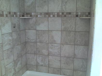 12x12 floor tiles used on walls around tub - Ceramic Tile Advice ...
