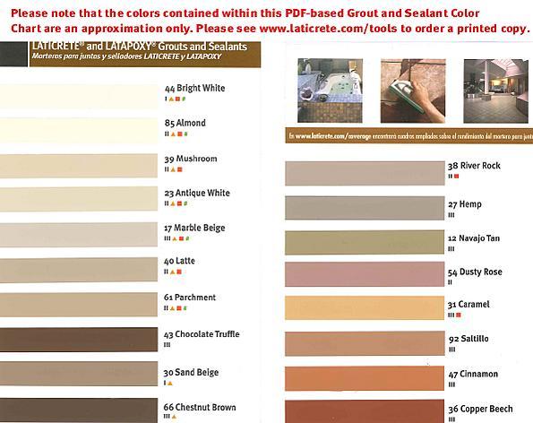 lowes grout color chart: Lowes grout color chart shop grout at lowes com ratelco com