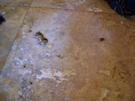 fillen a polished travertine with - Ceramic Tile Advice Forums