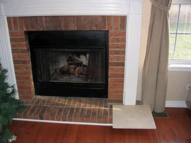 Travertine over brick fireplace Tile Forum/Advice Board