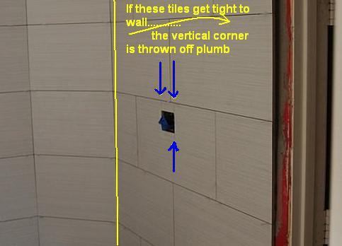 Installation of tile on non-plumb wall adjactent to Door Frame ...