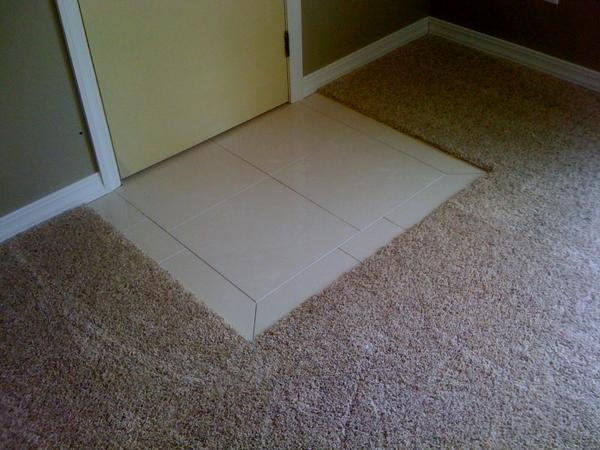 Tile In The Entry And Transition To Carpet Suggestions