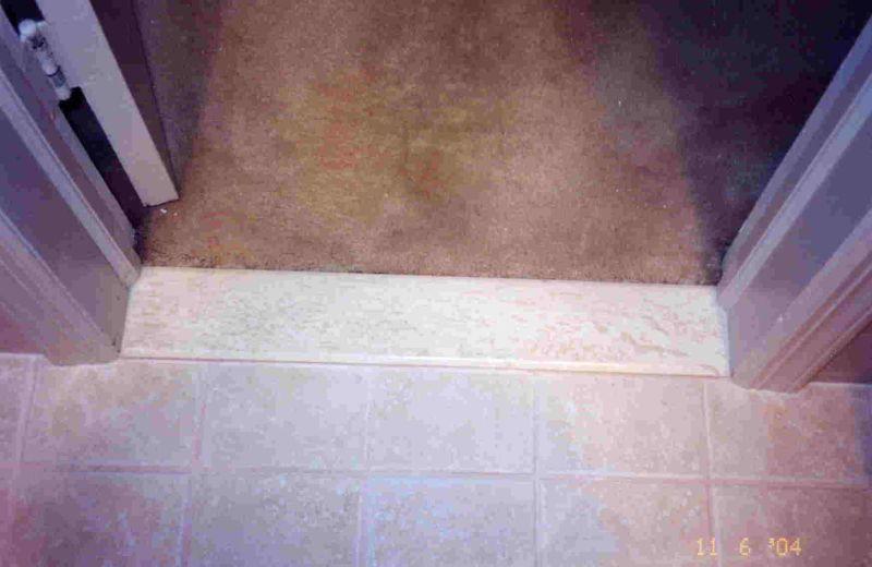 Tiling Bathroom Door Threshold threshold crisis - ceramic tile advice forums - john bridge