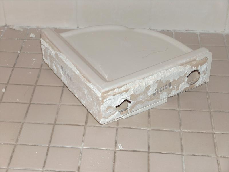 shower corner shelf repair ceramic tile advice forums. Black Bedroom Furniture Sets. Home Design Ideas