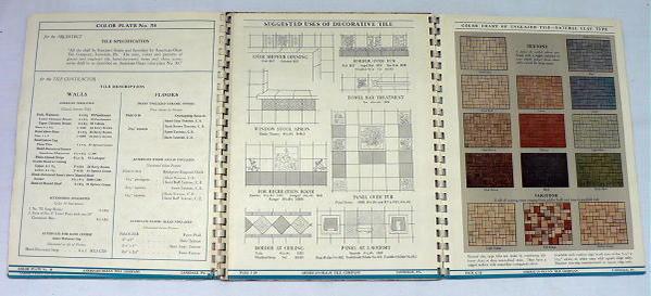 1950 American Olean Catalog Ceramic Tile Advice